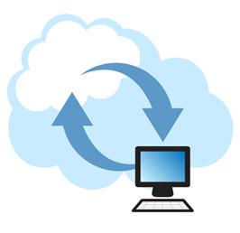 Cloud Web Hosting Illustration Image
