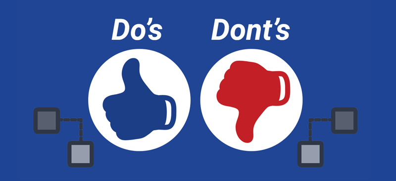Do's and don'ts for a secure network blog
