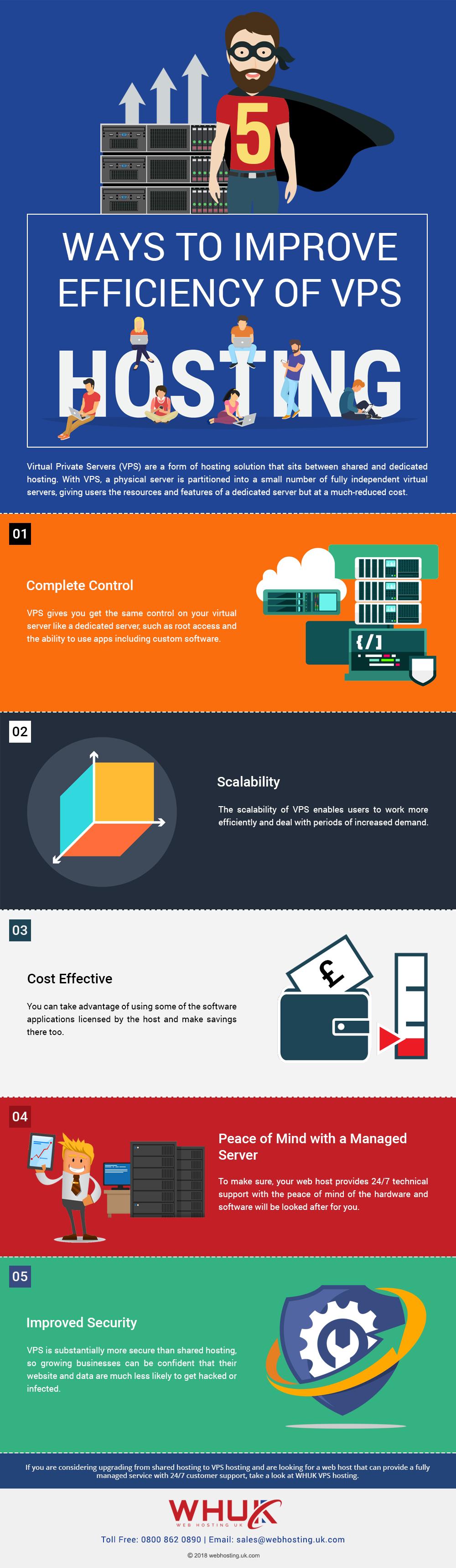 5 Ways to Improve Efficiency of VPS Hosting
