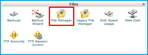 File Manager-Joomla