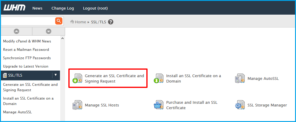 Generate a SSL Certificate and Signing Request