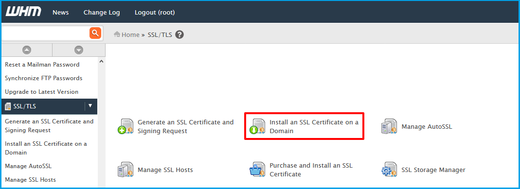 Installing The SSL Certificate