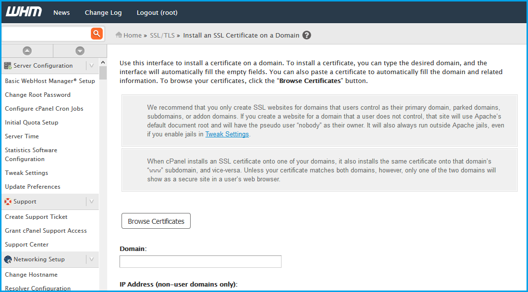 How To Install Ssl Certificate On A Domain Using Cpanel Whuk Faq
