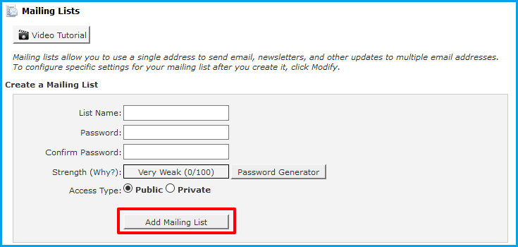 Create a Mailing List in cPanel | WHUK FAQ & Knowledgebase