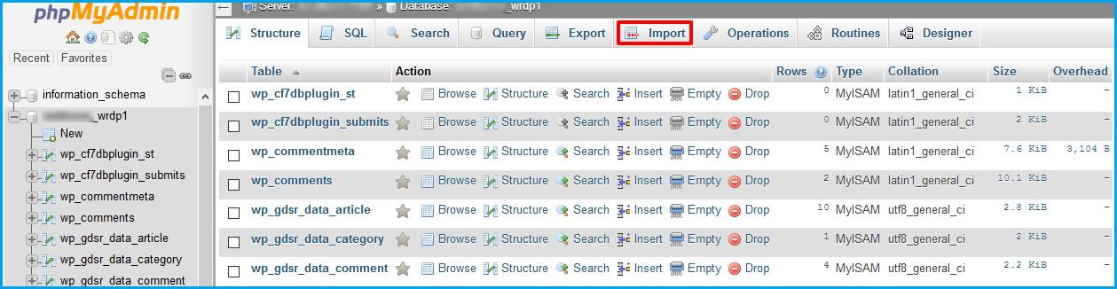 Import-cpanel