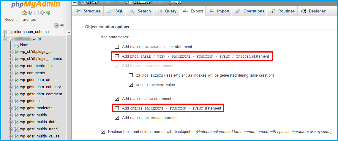 Object-creation-options-cpanel