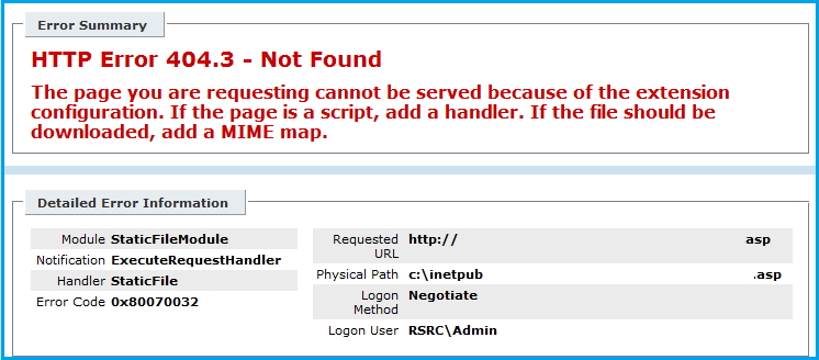 IIS: HTTP Error 404 3 - Not Found (Add a MIME Map) | WHUK FAQ